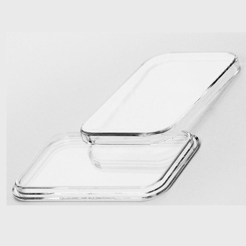 LOT X 1000PCS Silver Gold bar bullion box 20mmx23mm empty plastic Acrylic case