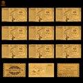 10 pçs/lote atacado italiano folha de ouro cédula papel dinheiro 1000 lira euro para moeda coleção e negócios presentes
