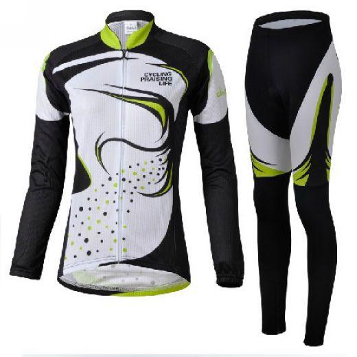 ФОТО Nice Grass Polyester Women Long Sleeve Bike Cycling  Anti-Shrink Jersey Quick Dry