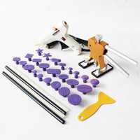 PDR tools kit with mni dent lifter glue tabs set for automotive car body dent repair puller