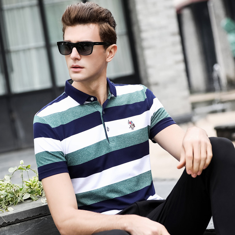 2019 New   polo   men business casual shirt short sleeve cotton 3d embroidery homme camisa plus size XXXL men's tops & tees 3315