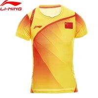 Li Ning Women Badminton Shirts Breathable Light T Shirts Quick Dry Competition Top Comfort Li Ning