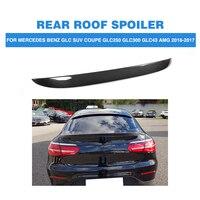 Carbon Fiber Rear Roof Boot Wing Lip Spoiler For Mercedes Benz GLC Class X253 4 Door GLC43 AMG Sport GLC300 16 17 FRP Unpainted