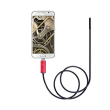 5.5mm Endoscope Camera 2 In 1 USB Snake Industrial Endoscope Hard Cable Endoscope Car Detection Camera For Android PC цена