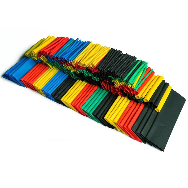 328PCS Colorful Assorted Heat Shrink Tube 5 Colors 8 Sizes Tubing Wrap Sleeve Set Combo Sale ALI88
