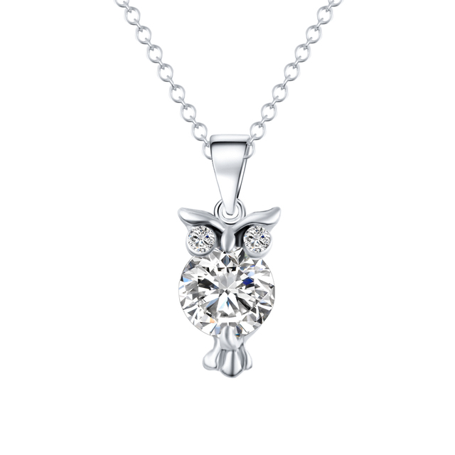 Diamond Owl Chain Necklace