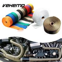 10M Titanium Thermal Exhaust Header Pipe Tape Heat Insulating Wrap Tape Fireproof Cloth Roll With Durable