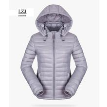 LZJ 2017 women winter hooded jacket slim plus size cotton padded coat female outerwear short ladies inverno jaqueta feminina