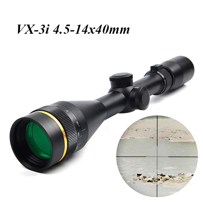 VX 3i 4 5 14x40 AO Duplex Reticle Hunting RifleScopes 1 Inch Tube Tactical Rifle Scope