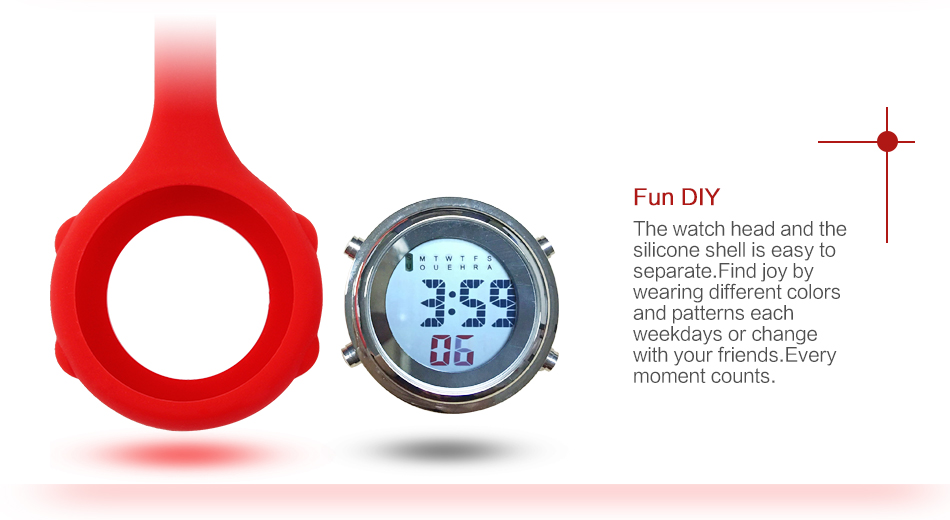 ALK Digital nurse watch Silicone for nurse fob clip watch for doctors nurse pocket Quartz watches medical brooch dropshipping 16