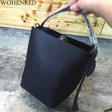 Summer Mini Bucket Bags 100% Genuine Leather Handbags Women Bag Designer Fashion Small Shoulder Messenger Bag Female Tote Purse 2017 women s handbags fashion wild tassel bucket bag tote leather women messenger bags girls for shoulder bag brands designer