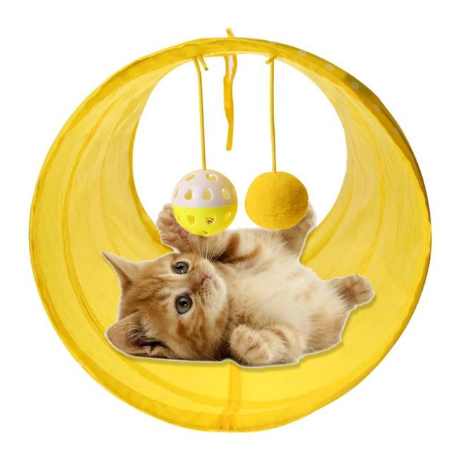 Funny Pet Cat Tunnel Cat Play Tunnel Tubes Collapsible Crinkle Kitten Cat Toys Puppy Ferrets Rabbit Play Cat Play Tunnel Tubes Funny Cat Tunnel Funny Cat Tunnel HTB1O2JNb9FRMKJjy0Fhq6x