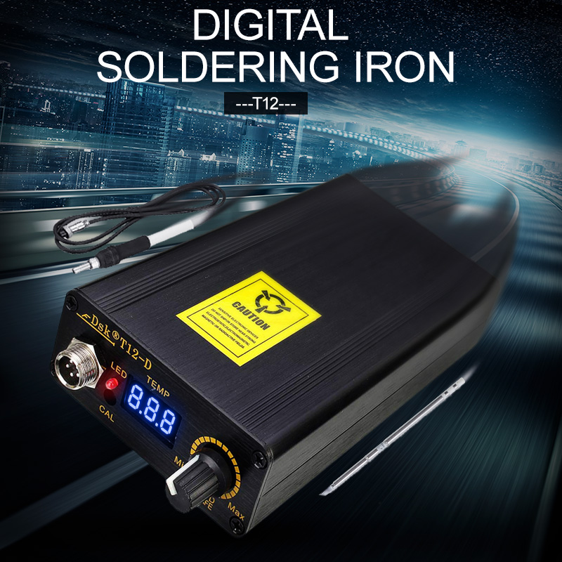 Melhor Preço Digital Ferro De Solda Estação de Controlador de Temperatura + EU Plug Temperatura 180-435 Graus + T12 Lidar Com 138 x 88x38mm