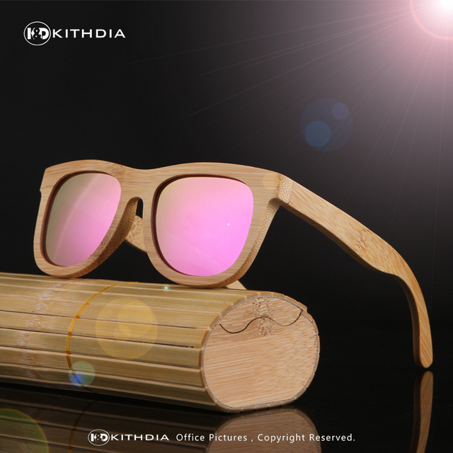 KITHDIA Handmade Wood Sunglasses Men women square bamboo Sunglasses Women Mirror Sun Glasses Oculos de sol masculino