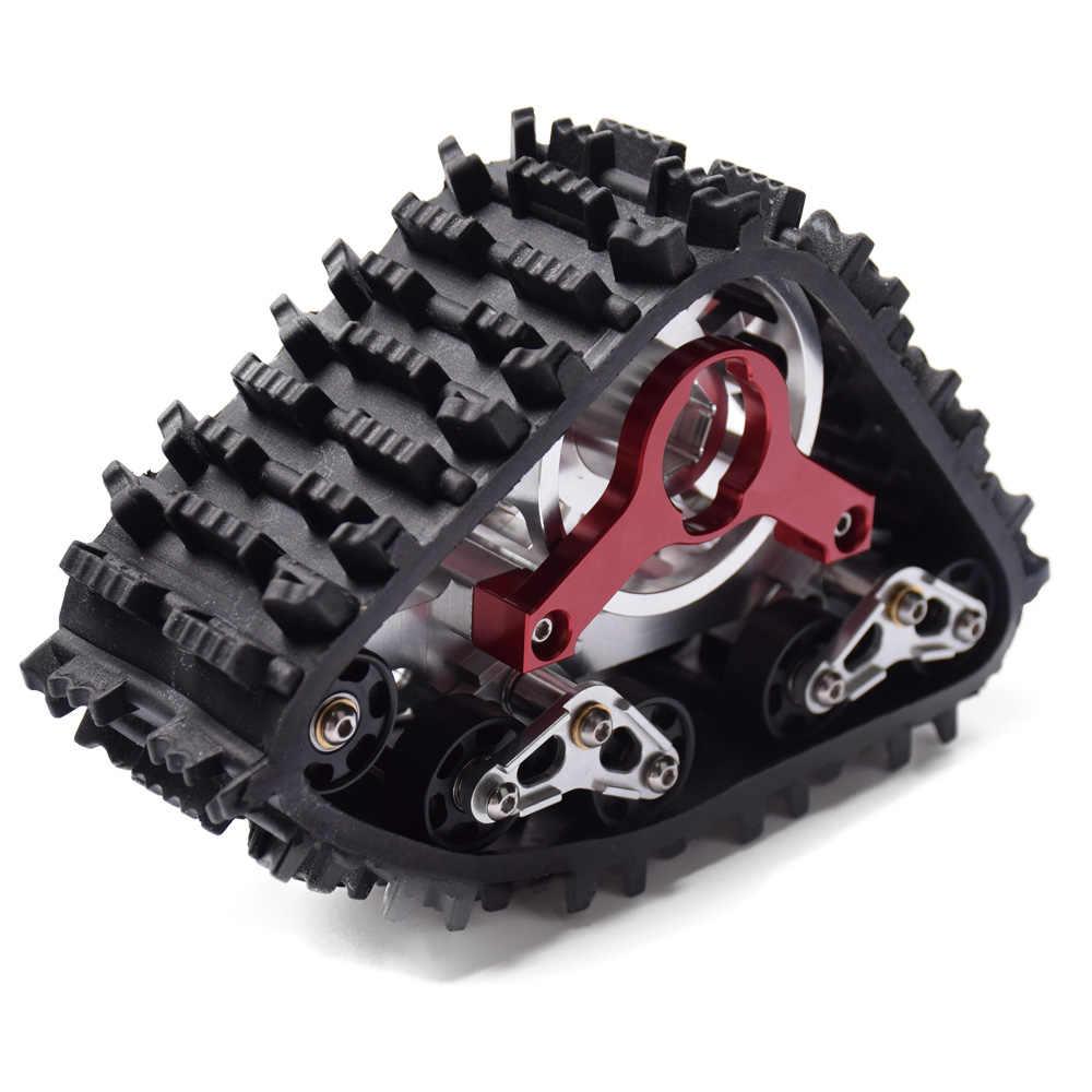 Pista completa de goma para nieve DJX con cubo de rueda para coche 1/10 RC Traxxas TRX-4
