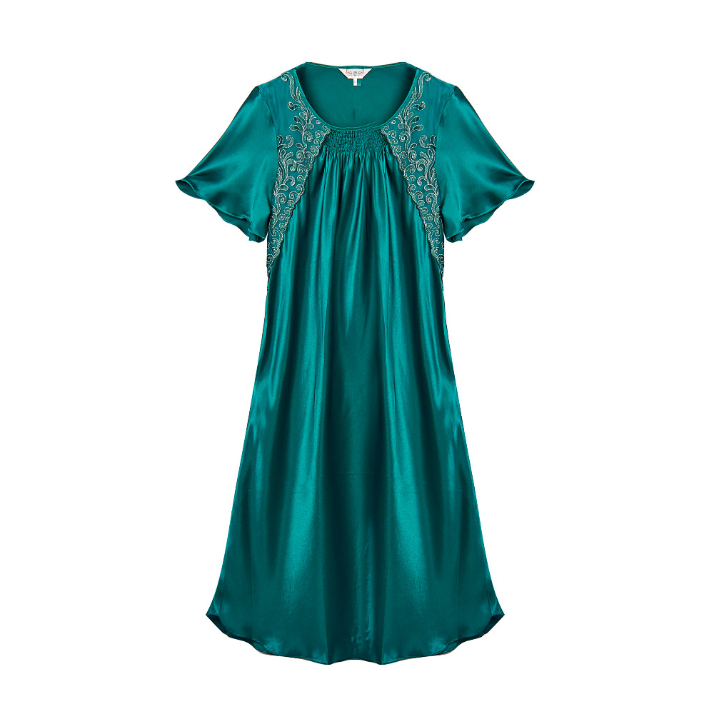 100% Silk Pajama Dress Natural Silk Charmeuse New Excellent High Quality Silk Satin Bath Robe For Women