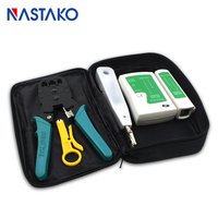 RJ45 Tool Kit Network Ethernet Cable Tester RJ45 Crimper Cable Stripper Punch Down Tools for RJ11 RJ12 RJ45 Cat5 Cat6 Cable