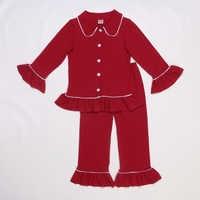 Herbst Winter Baby Boutique Outfits Herbst Baumwolle Strickjacke Taste Red Pyjamas Kinder Mädchen Kleidung Sets