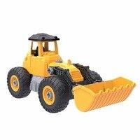 Дети бульдозер грузовик игрушечных автомобилей DIY притворяться игровой набор собрать преобразования строительство транспортного средств...