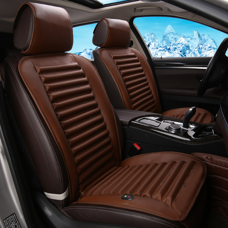 Ventilation Car Seat Cover Cold Air Circulation Built-In Eco-Friendly Fan Cushion For Cadillac ATS CTS XTS SRX SLS Escalade