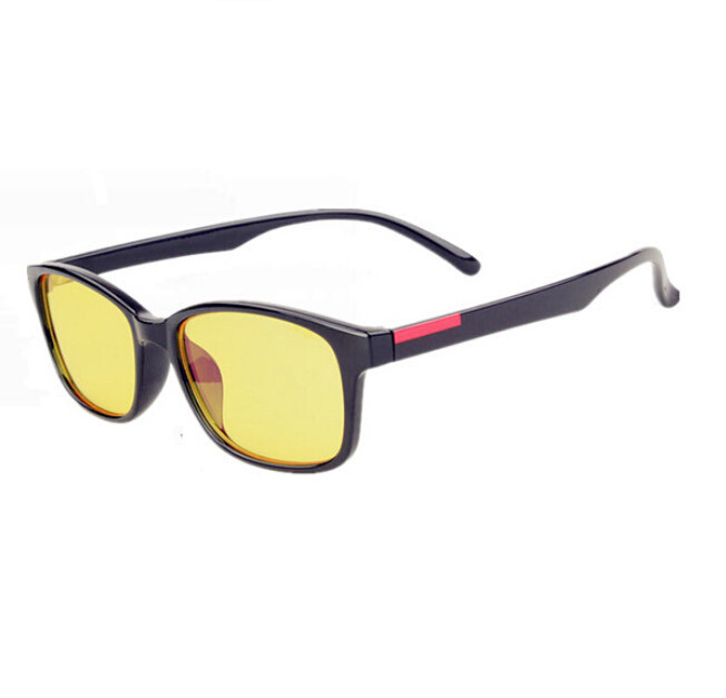 4447b2efc94 US $2.88 |Computer Goggles Patchwork Unisex Acetate Movement Yellow Clear  Lens Elegant Glasses Frame Oval Frame Anti Blu ray Eyeglasses-in Eyewear ...