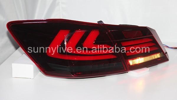 Для Accord светодиодный задний фонарь YZ red and smoke