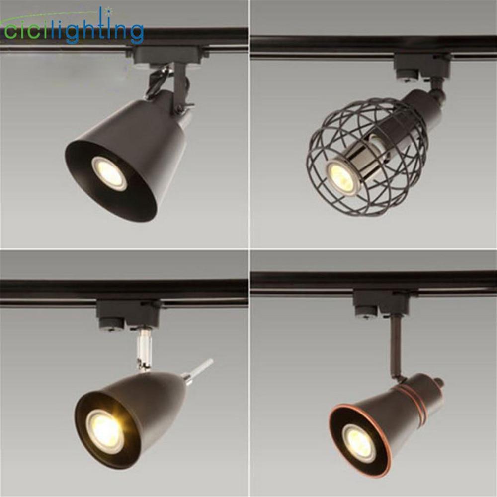 Retro Style Led Ceiling Lights Adjustable Angle Clothing: Art Decoration LED Spotlight Europe Style Clothing Track