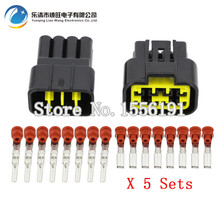 цена на 5 Sets/Kit 8 Pin/Way Waterproof Electrical Wire Connectors DJ7081Y-2.3-11/21 Male and female Automobile Connector Free Shipping