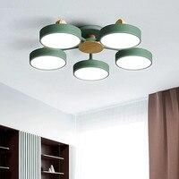 נורדי סלון עץ נברשת אורות חדר שינה מודרני תקרת חדר אוכל מטבח מנורות תליית מנורות גופי