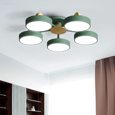 Nordic Living Room Wooden Chandelier Lights Modern Bedroom Led Ceiling Dining Room Kitchen Lamps Hanging Luminaires Fixtures