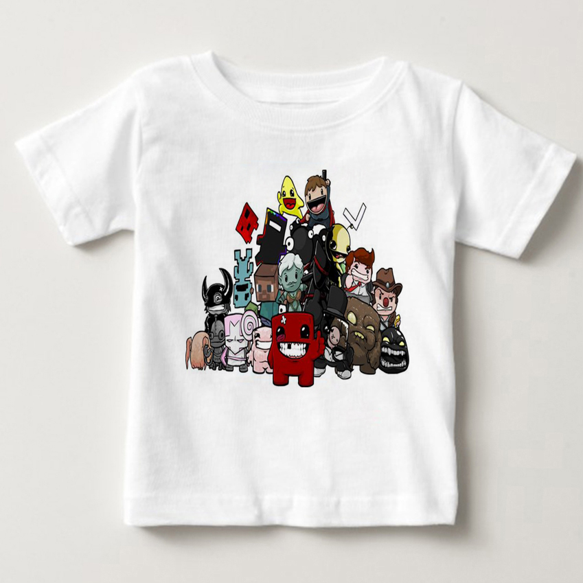 100 Cotton Fashion T Shirts New Super Meat Boy Video Game boys T Shirt summer children Short sleeve shirt motion shirt MJ in T Shirts from Mother Kids