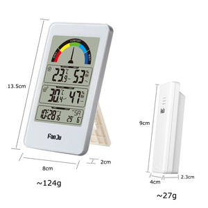 Image 5 - Digitale Thermometer Hygrometer Wandklok Draadloze Sensor Indoor Outdoor Temperatuur Weerstation Comfort Indicatie