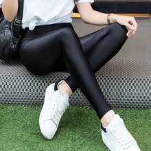 2018 Spring Summer A Korean Version Of Foot Pants Woman Thin Elastic Force Will Code Nine Part Leisure Time Joker Hit Underpant(China)