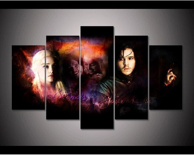 Enmarcado HD impresión 5 unids Juego de tronos Daenerys Targaryen ...