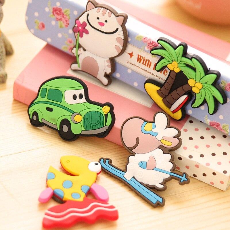 Cartoon animal Silica gel fridge magnets whiteboard sticker Refrigerator Magnets kids gift funny refrigerator Home decoration in Fridge Magnets from Home Garden