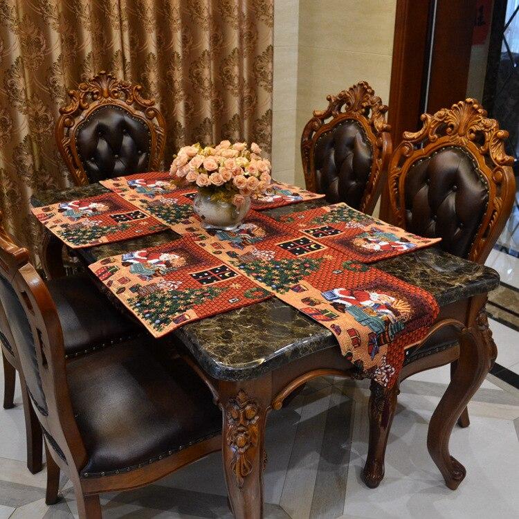 Poly Cotton High Quality Christmas Design Dobby Table