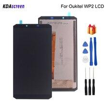 מקורי 6.0 אינץ עבור Oukitel WP2 LCD תצוגת מסך מגע עצרת חלקי טלפון Oukitel WP2 מסך LCD תצוגת משלוח כלים