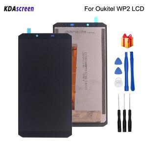 Image 1 - الأصلي 6.0 بوصة ل Oukitel WP2 شاشة إل سي دي باللمس شاشة الجمعية الهاتف أجزاء ل Oukitel WP2 شاشة عرض LCD أدوات مجانية