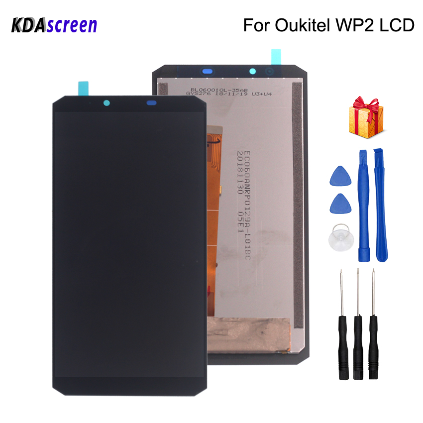 Original 6.0 inch For Oukitel WP2 LCD Display Touch Screen Assembly Phone Parts Free Tools
