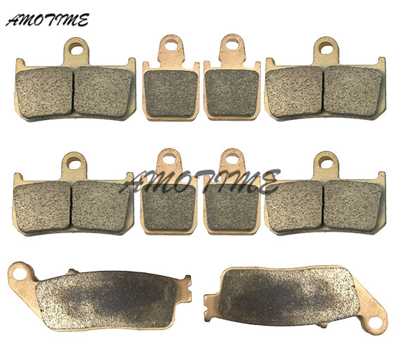 Motorcycle Parts Copper Based Sintered Motor Front & Rear Brake Pads For Yamaha MT-01 2007-2010 MT-01S 08 09 motorcycle front and rear brake pads for yamaha street bikes tdm 900 tdm900 2002 2010 sintered brake disc pad