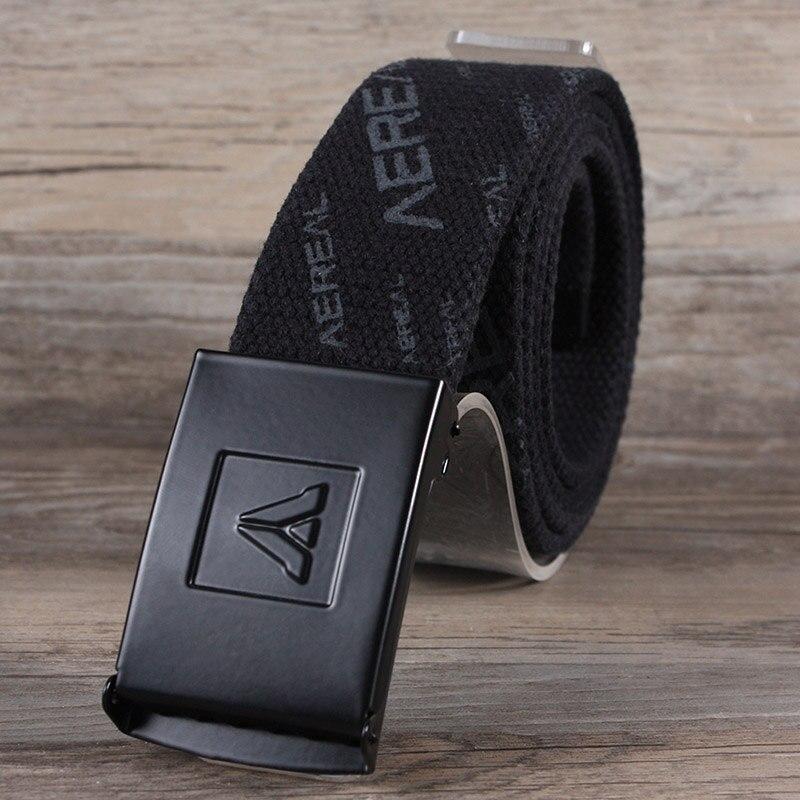 acheter populaire 12a10 568c1 € 7.15 18% de réduction|Hongmioo 2017 mode hommes ceintures de sangle  militaire classique plaque boucle Design ceintures pour hommes Ceinture  Homme ...