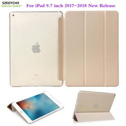 For iPad 9.7 inch 2017 2018 new case Ultra-thin magnet wake Smart PU Leather Funda cover 6th generation A1822 A1823 A1893 A1954