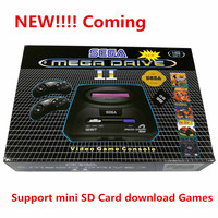 For SEGA PAL version Game console bulit in 9 games Support Mini SD Card 8GB download Games cartridge MD2 TV Video Console 16bit