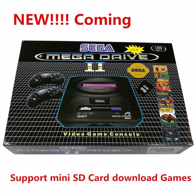 Pour SEGA PAL version Jeu console bulit dans 9 jeux Soutien Mini SD Carte 8 gb télécharger Jeux cartouche MD2 TV Vidéo Console 16bit