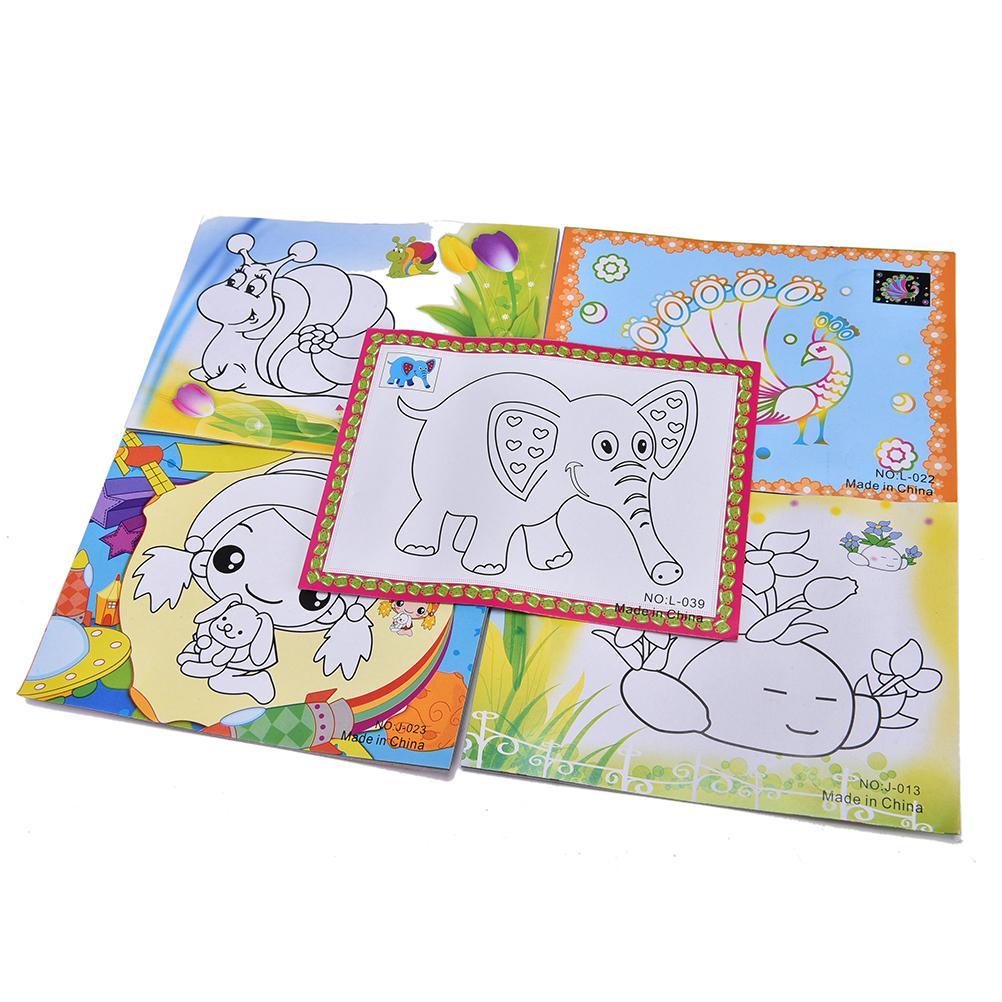 1 Set 4 Farben Diy Tragbare Feste Farbe Aquarell Malerei Set Kinder Pädagogisches Zeichnung Spielzeug Stimulieren Fantasie Der Kinder