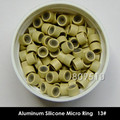 3000 pieces / lot 4 Colors Aluminum Silicone Micro Ring/ Beads/ Links for Hair Extension