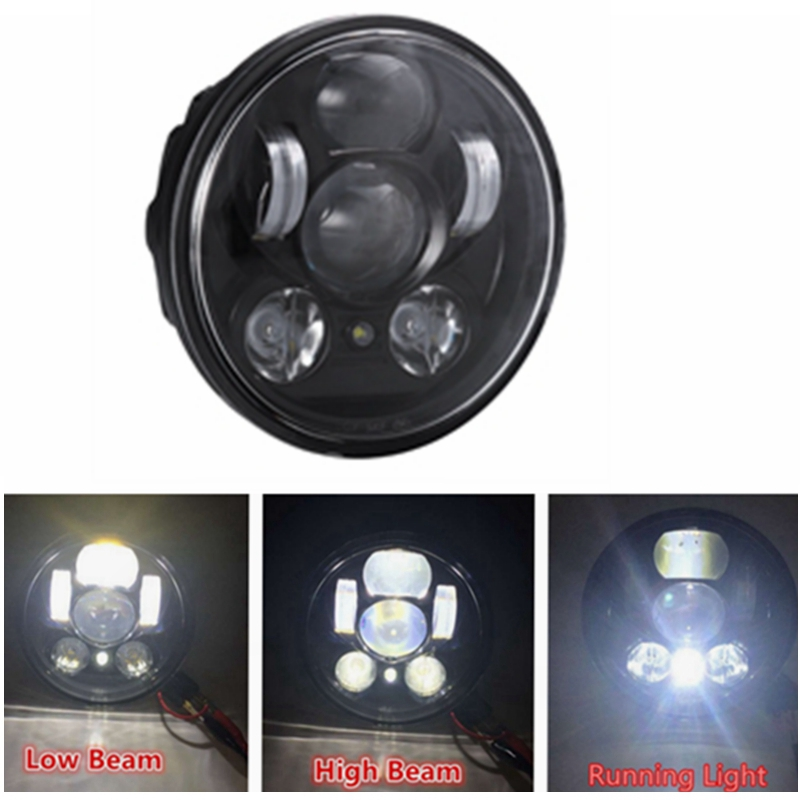 5-3/4 5.75 inch Harleys Motorcycle Projector Daymakers 5-3/4 inch headlight Harleys Dyan parking lights led headlights 1pcs 5 75 inch led motorcycle projector daymakers 5 75 inch headlight for harleys dyan h4 hi lo beam lights lamp bulb angle eye