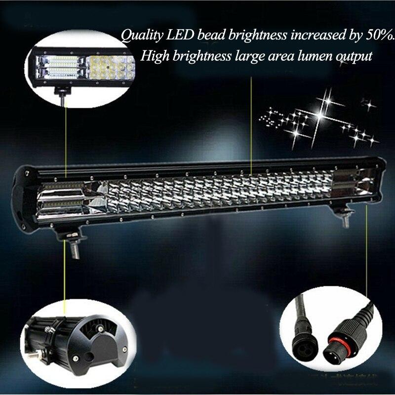 Car LED Light Bar lampe de Travail Phare Ampoule 12 v 288 w 6000 k super bright Voiture auxiliaire conduite Bande lampe automobile projecteurs