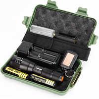 Охота лазерный светодиодный фонарь светодиодный тактический вспышки света 10000 люмен T6/L2/V6 Масштабируемые 5 режимов светодиодный налобный ф...
