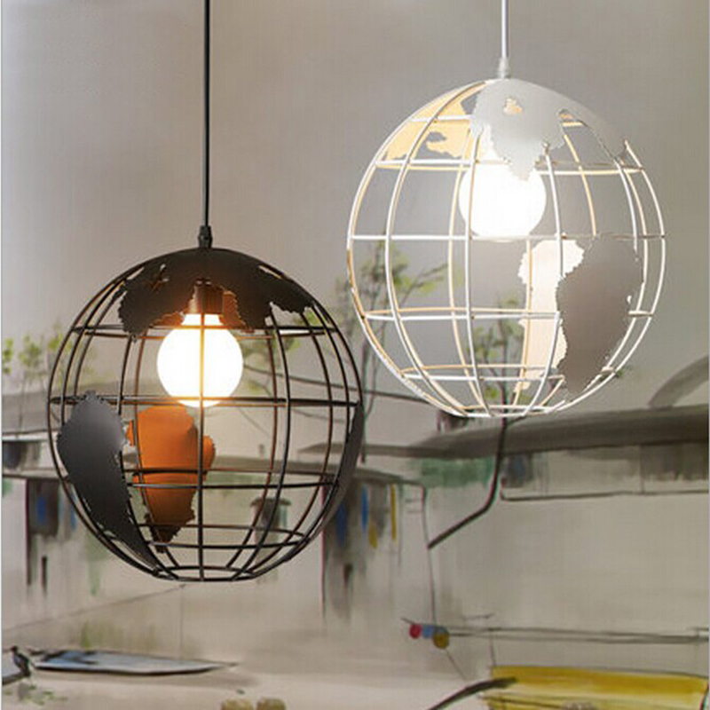 New Creative Modern Globe Pendant Lights Black/White Color Pendant Lamps for Bar/Restaurant Hollow Ball Ceiling Fixtures modern globe pendant lights black white color pendant lamps for bar restaurant hollow ball ceiling fixtures